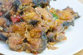 pic of catfish  - Spicy Stir Fried catfish on dish - JPG