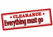 Clearance Everything Must Go