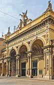 stock photo of sole  - Facade of Arena del Sole theatre in Bologna Italy - JPG