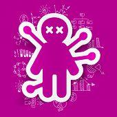 image of voodoo  - It is a drawing business formulas - JPG