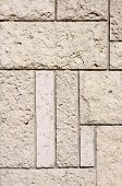 picture of tile cladding  - New stone cladding plates on wall closeup - JPG