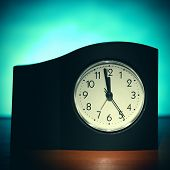 pic of midnight  - Vignetting Photo of the Clock in the Room with display Almost Midnight - JPG