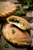 foto of nettle  - calzone with ricotta and nettle - JPG