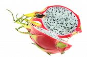 picture of dragon fruit  - dragon fruit isolated on the white background - JPG