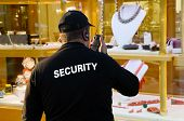 picture of single man  - portrait of guard man dressed like a jewelery security - JPG