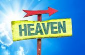 pic of gates heaven  - Heaven sign with sky background - JPG