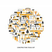 picture of hand tools  - Construction tools vector icons set - JPG