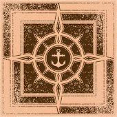 foto of nautical equipment  - compass - JPG