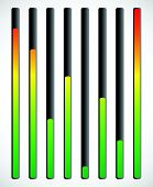 image of indications  - Vertical level indicator set with color code  - JPG