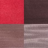 pic of lint  - Set of pink fabric samples texture background - JPG