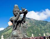 image of metal sculpture  - Buddha statue Hong Kong - JPG