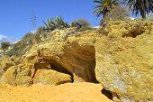 pic of peculiar  - Armacao De Pera Beach on the Algarve - JPG