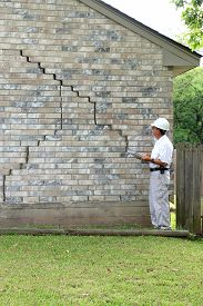 picture of foundation  - Home inspector found serious foundation damage on house for sale - JPG