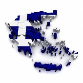 Mapa 3D da Grécia