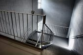 Industrial Emergency Exit Stairway