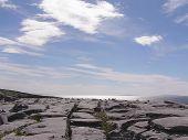 Limestone Pavement And Sea