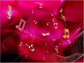 Fondo de la música. Vector