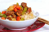 stewed pork over rice - Chinese Dish