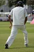 Cricketer Stretching