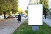 blank billboard in the city