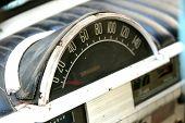 vintage car speedometer