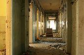 grungy corridor