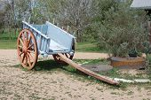 stock photo of ox wagon  - A bullock cart or ox cart is a two - JPG