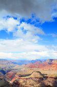 Dramatic sky over colorful Grand canyon, Arizona