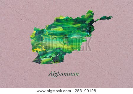 Artistic Map Of Afghanistan Officially