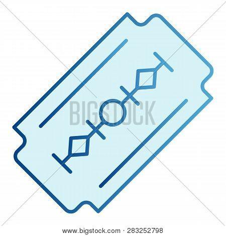 Razor Blade Flat Icon Cut