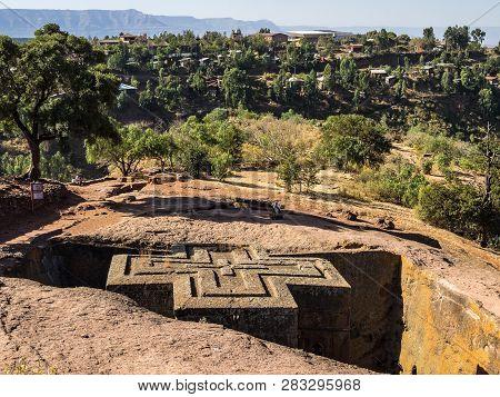 Poster: Lalibela Ethiopia Famous Rockhewn Church