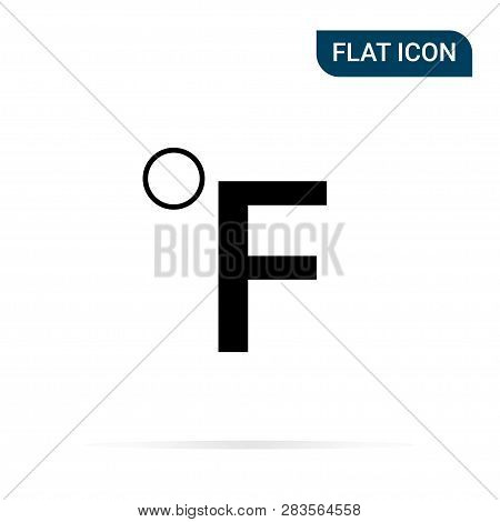 poster of Fahrenheit Icon In Trendy Flat Style Isolated On White Background. Symbol For Your Design, Logo, Ui.