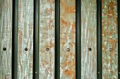 Blue Barn Wooden Wall Planking Horizontal Texture. Old Solid Wood Slats Rustic Shabby Isolated Backg poster