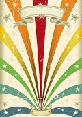 Vintage color. A vintage carnival poster for your parade