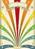 Vintage color. A vintage carnival poster for your parade