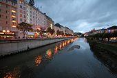 Lourdes at nightfall