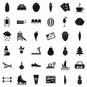 Wellness Loss Icons Set. Simple Style Of 36 Wellness Loss Icons For Web Isolated On White Background poster