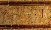 Modern Stone Wall. Decorative Natural Stone Wall In The Form Of Decorative Interior Decoration. Natu poster