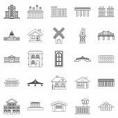 Creature Icons Set. Outline Set Of 25 Creature Icons For Web Isolated On White Background poster