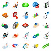 Excellent Worker Icons Set. Isometric Set Of 25 Excellent Worker Icons For Web Isolated On White Bac poster