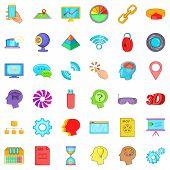 Web Folder Icons Set. Cartoon Style Of 36 Web Folder Icons For Web Isolated On White Background poster