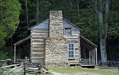 foto of cade  - Historic Log Cabin in Cades Cove area of Great Smoky Mountain National Park - JPG