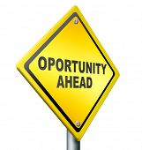 opportunity ahead, best chances to change for the better, job improvement,career move, yellow road s