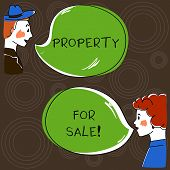 Writing Note Showing Property For Sale. Business Photo Showcasing Owner Who Want To Exchange Of Comm poster
