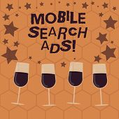 Writing Note Showing Mobile Search Ads. Business Photo Showcasing Ad That Can Appear On Webpages And poster