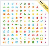 Colorful set of 126 shiny icons