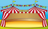 picture of tarp  - Circus tent illustration - JPG