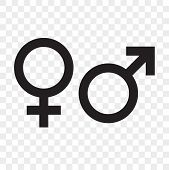 Female And Male Gender Arrow Sign. Vector Man And Woman Sex Icons poster