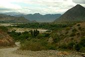 Ruta 40 a través de orografía Argentina