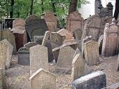 Eastern Europe Czech Rep Prague Old Jewish Cemetary